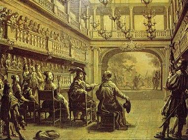 L'œil du prince : l'inauguration du Palais-Cardinal en 1641, gravée par Abraham Bosse.