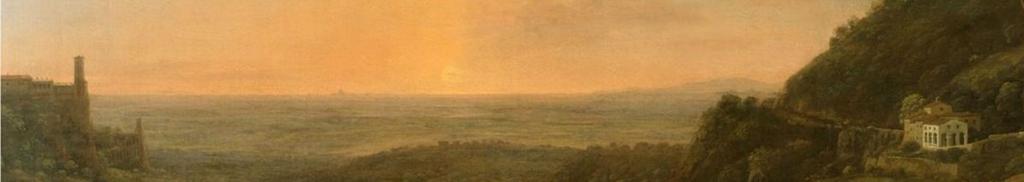 Claude Gellée, La campagne romaine depuis Tivoli, le soir (détail), vers 1644-1646.