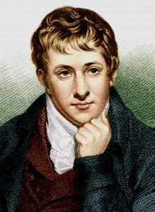 Humphry Davy (1778-1829), brillant pionnier de la chimie électrique.