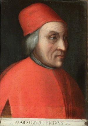 Cristofano dell'Altissimo, Portrait de Marsilio Ficino, après 1552.