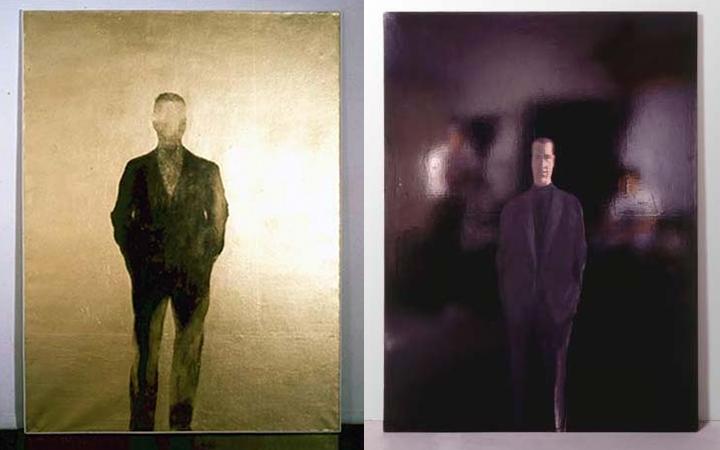 Quand le fond réfléchit la lumière : Michelangelo Pistoletto, Autoritratto oro, 1960 et Uomo di fronte, 1961.