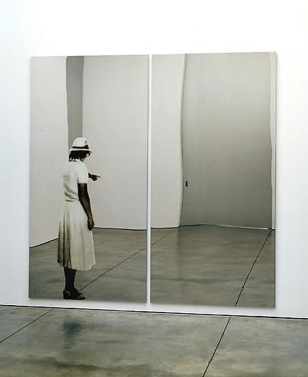 Michelangelo Pistoletto, Donna che indica, 1982.