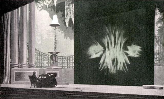 Thomas Wilfred et son Clavilux en 1922.