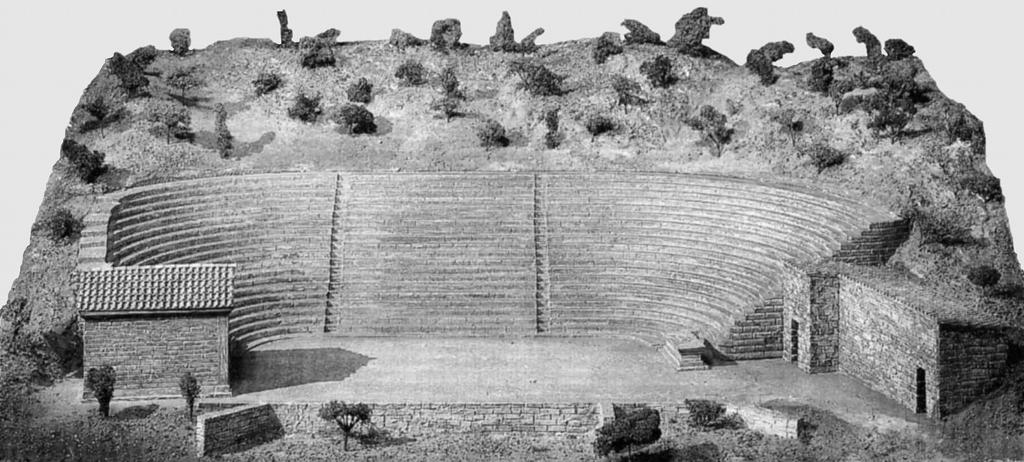 Le premier théâtre de Thorikos : tous les regards sont logés dans une excavation.